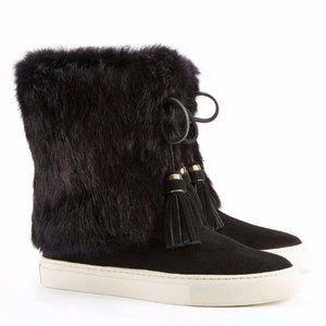 Tory Burch Anjelica black fur Boot